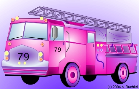 Drawing example on Mac OS X using Eazydraw, a fire truck illustration