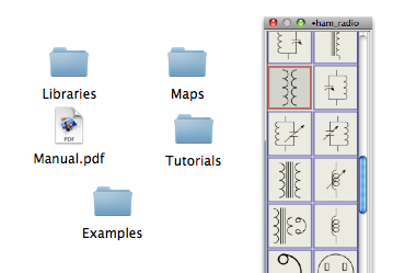 EazyDraw libraries and PDF manual found in the Additions Pack.