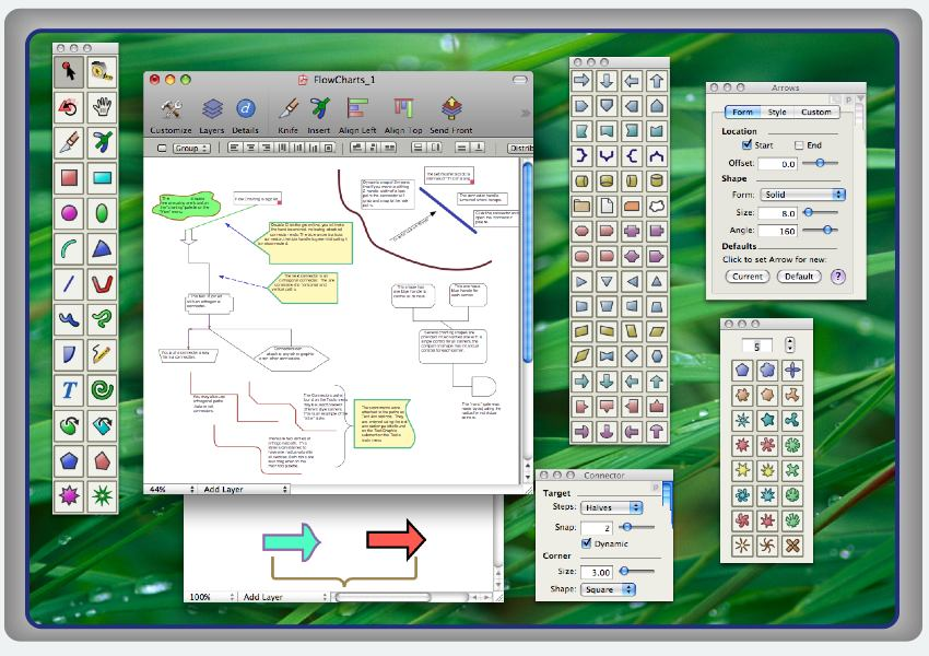 Create flow charts and Venn diagrams on Mac OS-X