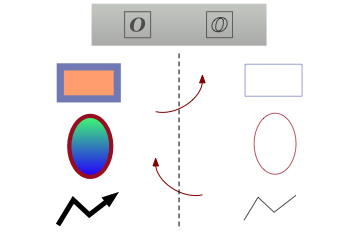 Vector Outline Mode example.